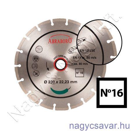 Univerzális gyémánttárcsa No16 230x22,23mm
