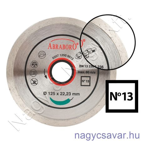 Turbó gyémánttárcsa No17 115x22,23mm
