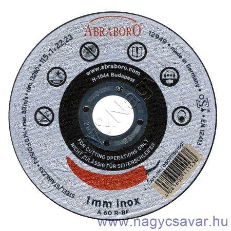 230x2,5x22 Chili INOX fémvágó korong (egyenes kivitel) ABRABORO