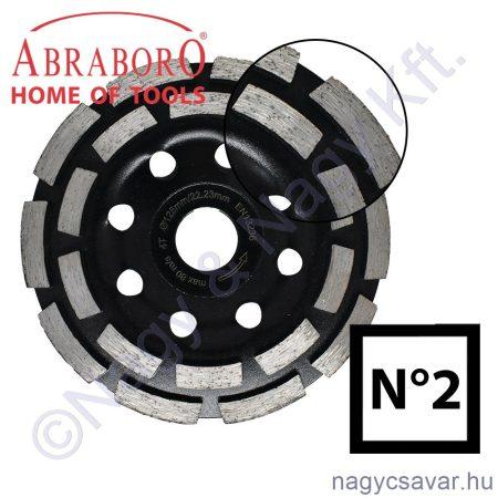Gyémántszemcsés betoncsiszoló No2 115x22,23mm