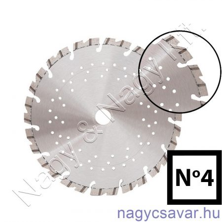 Gyémánttárcsa No4 230x22,23mm