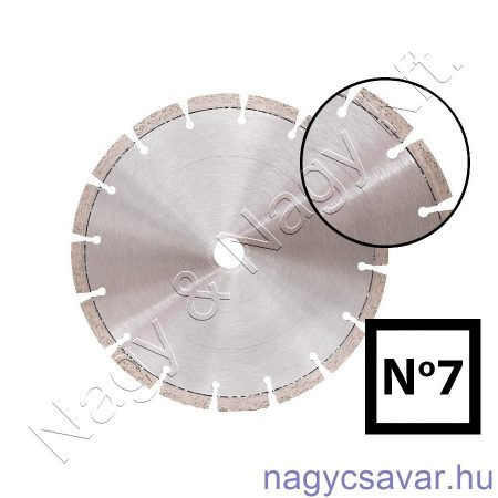 Univerzális gyémánttárcsa No7 400x25,4mm