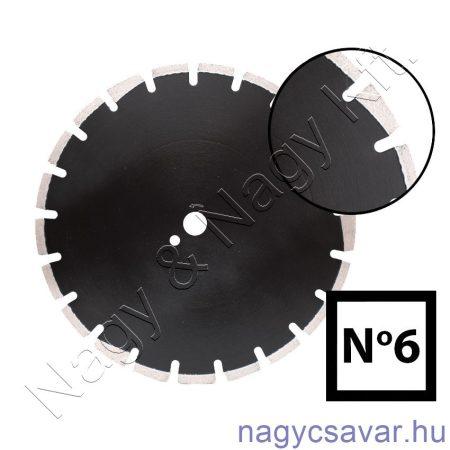 Aszfaltvágó gyémánttárcsa No6 350x25,4mm