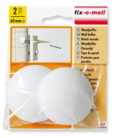 fali ütköző, öntapadó vagy csavarozható, fehér 2db 60mm