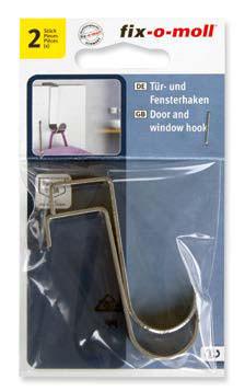 ajtó és ablak kampó,rozsdamentes acél, 2x11x60mm