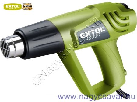 Hőlégfúvó 2.000W 1000W/2000W; 350/550°C, 300/500 L/perc + koffer + tartozékok EXTOL Craft