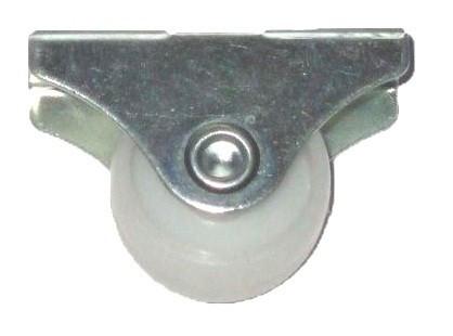 Ágygörgő, 26mm, talp: 42x18mm