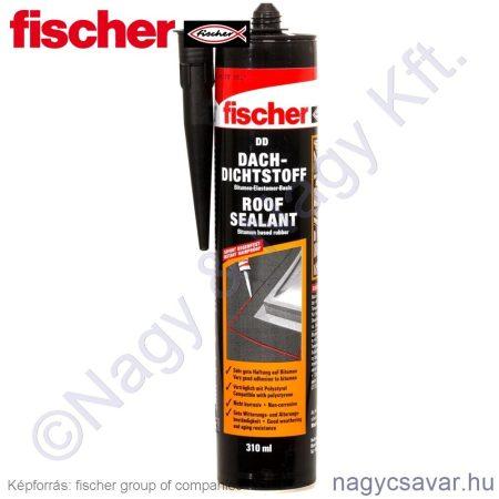 Fischer DD tetőtömitőanyag fekete (310ml)