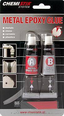Metal epoxy glue 5perces 40g (Chemistic)