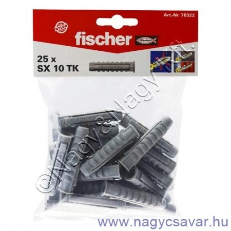 SX 10 nylon dübel 1 csomag (25db)