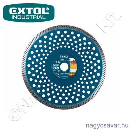 Gyémántvágó korong, 230×22,2mm, száraz/vizes EXTOL Industrial