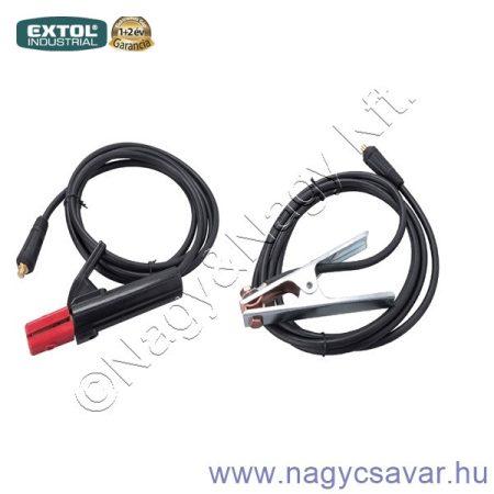 Munkakábel elektródafogóval + földelőkábel csipesszel 200A, 25mm2 EXTOL Industrial