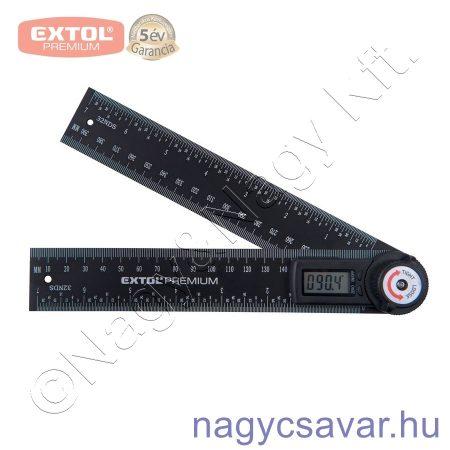 Digitális szögmérő-vonalzó 2×200mm EXTOL Prémium