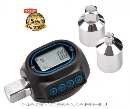 Digitális nyomatékmérő adapter 20-200Nm EXTOL Prémium