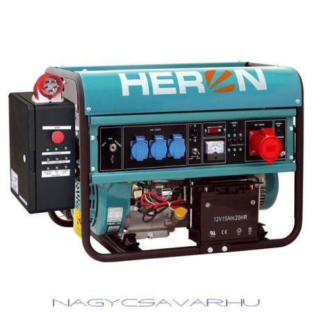 EGM-65 AVR-3E benzinmotoros áramfejlesztő+HAE-3 indito automatika, max 6500 VA, háromfázisú, önindítós HERON