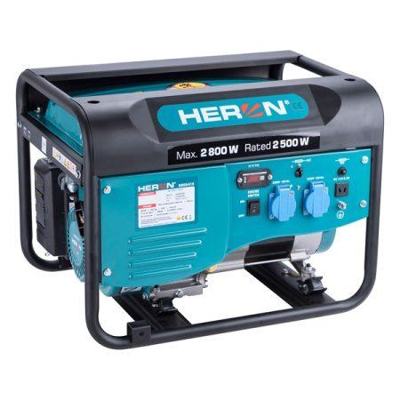 Benzinmotoros áramfejlesztő, max 2,8kVA, egyfázisú HERON