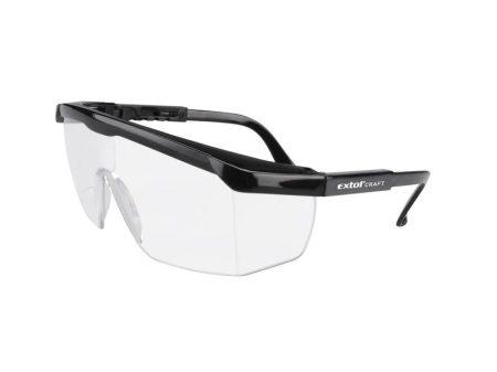 Védőszemüveg, víztiszta, polikarbonát, állítható szárú EXTOL Craft