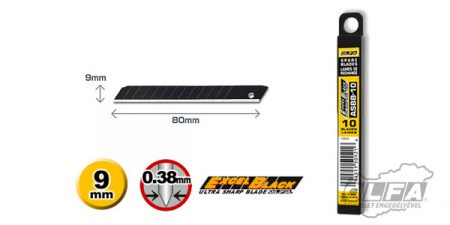 ASBB-10 9mm-es fekete penge 10db OLFA