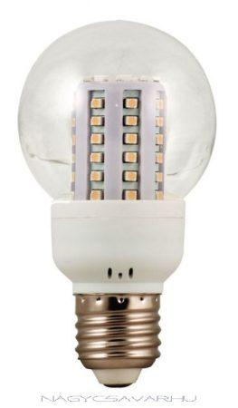 LED lámpa 60 led meleg fényű körte forma