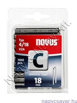 C 4 18mm (V2A nemesacél) 1.100db (042-0459) NOVUS