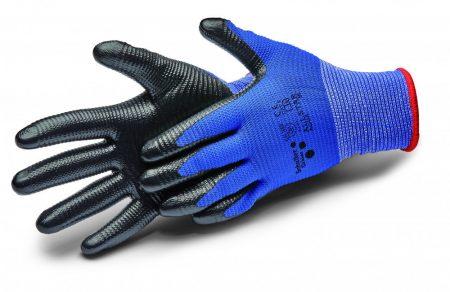 Védőkesztyű mártott kék (12pár/cs)
