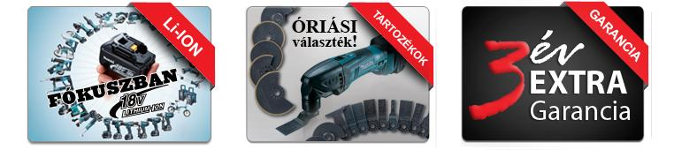 Makita gépek 1+2év garanciával